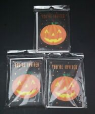 NEW 3 Packages of 10 Hallmark Halloween Party Invitations Jack O' Launtern