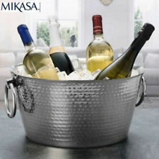 GENUINE Mikasa Stainless Steel Double Walled Beverage Drinks Party Tub