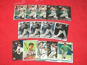 AUSTIN RILEY ATLANTA BRAVES RC ROOKIE LOT OF 14 CARDS (18-89)