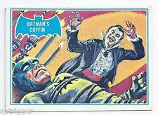 1966 Topps Batman Blue Bat with Bat Cowl Back (13B) Batman's Coffin