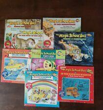 Magic School Bus Book Lot , Waterworks, Hurricane, Dinosaurs, Rainbow