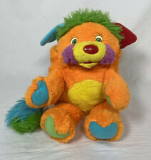 "Vintage 1986 Mattel Popples PUZZLE Orange Stuffed Animal Plush 11"" Ball Toy"