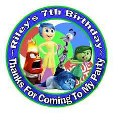 24 INSIDE OUT BIRTHDAY PARTY THANK YOU FOR COMING TO MY PARTY STICKERS FAVORS