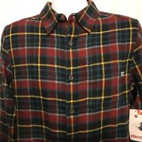Marmot Fairfax Midweight Mens Small Long Sleeve Flannel Shirt Team Red NWT $60