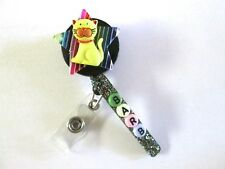 ID BADGE RETRACTABLE REEL STAR KITTY PERSONALIZE NURSE,MEDICAL,OFFICE,ICU,ER