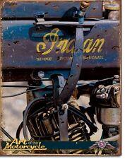 1914 Antique Indian Motorcycle TIN SIGN Vintage Garage Shop Metal Poster