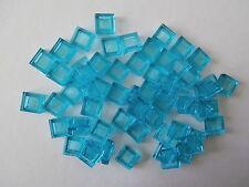 LEGO CITY  60 Fliesen 30039 in transparent hellblau / light blue 1x1 Noppen  NEU