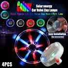 4pcs 15 Mode Solar Energy Auto Flash Led Car Wheel Hub Tire Valve Cap Light Lamp