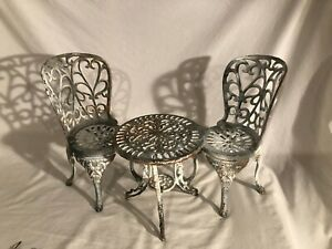 Vintage Cast Metal Small Garden Set