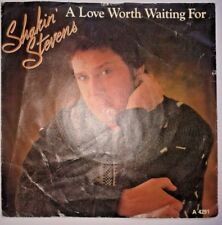 """Shakin Stevens - A Love Worth Waiting For / As Long As 80s 7"""" Vinyl Record 45RPM"""