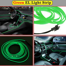 2M Green EL Wire Car Interior Decor Fluorescent Neon Cold Strip light Fit Nissan