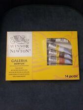 New listing New Winsor & Newton Galeria Acrylic Painting Set 14 Piece Paint Gloss Gel
