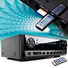 Karaoke Party HiFi-Verstärker 160 Watt schwarz MP3 SD Karte USB Bluetooth DVD