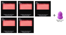 Revlon Powder Blush, 008 Racy Rose, 0.17 oz (5 Pack) + Makeup Sponge