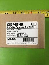 Siemens 42CF35AG - 40 amp 3 pole Definite Purpose Contactor -  Furnas