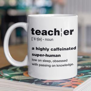 Thank You Teacher Gift Fun Teacher Definition Mug End Of Term Gift Mug