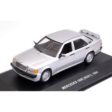 MERCEDES 190E (W201) 1984 SILVER 1:43 Solido Auto Stradali Die Cast Modellino