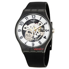 SWATCH Originals Skeletor Black Silicone Men's Watch SUOB134
