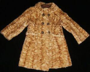 Antique Vtg Hand Made Soft BLOND Shawl COLLAR Lined Fur Coat JACKET MINK ?