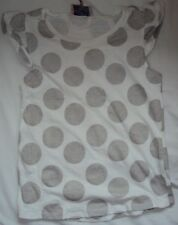 Girls White with Grey Spots T-Shirt Age 6 years from Marks and Spencer