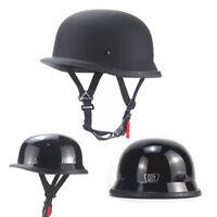 DOT German Style Motorcycle Half Helmet Skull Cap Scooter Chopper M/L/XL/XXL