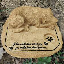 Resin Dog Memorial Stone Figurine Pet Grave Marker Tombstone Sympathy Gift
