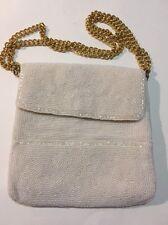 Vintage Women's White Bead Richere Bag