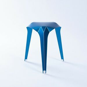 Nature of Material, Limited Edition Anodized Aluminum Stool, Metallic Blue