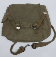 The A-Line by ACADEMY Small OD Green Canvas Pack Knapsack Satchel Vintage 12x12