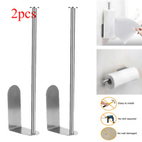 Set of 2 Paper Towel Roll Holder Kitchen Wall Mount Rack Bathroom Hanger Toilet