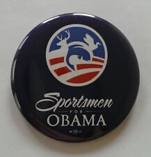 Official Campaign SPORTSMEN FOR OBAMA Button / Pin
