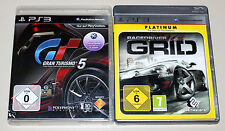 2 PLAYSTATION 3 SPIELE SET - GRAN TURISMO 5 & GRID RACEDRIVER - PS3 RENNSPIEL