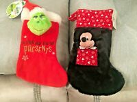 STOCKING Disney Mickey  Grinch Christmas Hanging Primark Home Xmas Decoration