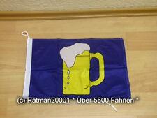 Fahnen Flagge Bierkrug Bootsfahne Tischwimpel - 30 x 45 cm