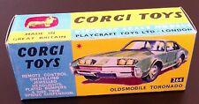 Corgi 264 Oldsmobile Tornado Empty Repro Box