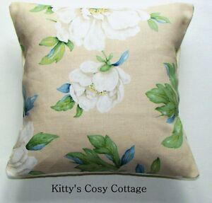 "16"" Laura Ashley 'Wisley Floral Print' Natural cushion cover"