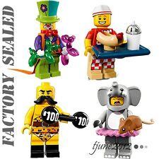 LEGO Minifigures Series 71021 CLOWN ELEPHANT GIRL 71018 HOT DOG VENDOR STRONGMAN