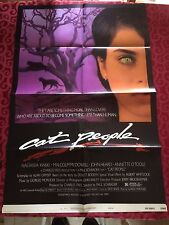 CAT PEOPLE style B 1sh '82 David Bowie Music wNastassja Kinski in the purplerain