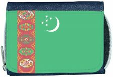 Turkmenistan Flag Denim Wallet
