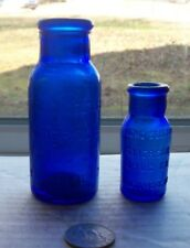 TWO DIFFERENT SIZE  BLUE BOTTLES , BROMO SELTZER, EMERSON DRUG CO, BALTIMORE, MD
