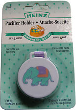 HEINZ DUMMY / SOOTHER / PACIFIER HOLDER - CLIPS ON TO BABY SHIRT TOP - HYGENIC