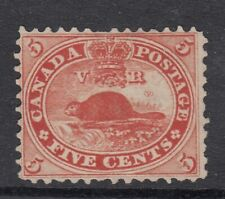 """Canada MINT NG Scott #15  5 cent Beaver vermilion """"First Cents""""  F **"""