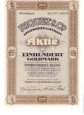 RAR: Riquet & Co AG  1924  Gautsch - Leipzig  ungelocht