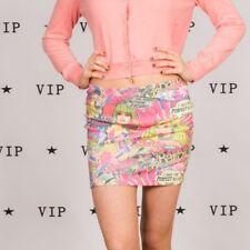 90 S Vintage Rose Barbie Pop Art Mini Jupe Taille 10 Miss Selfridge