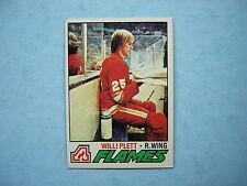 1977/78 TOPPS NHL HOCKEY CARD #17 WILLI PLETT ROOKIE NM+ SHARP!! 77/78 TOPPS