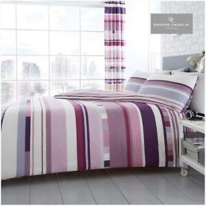 Purple Stripes Double Size Bedding Set Duvet Quilt Cover With Pillowcases