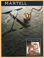 MARTELL XO Cognac 1988 vintage Print Ad