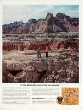 Vintage advertising print Gas Oil Ethyl Corp In the Badlands Sioux called Dakota