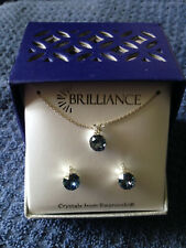 Brilliance Necklace & Earring Set with Blue Crystals from Swarovski