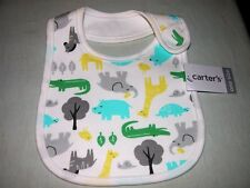 Carter's Baby Safari Bib New/One Size Fits All